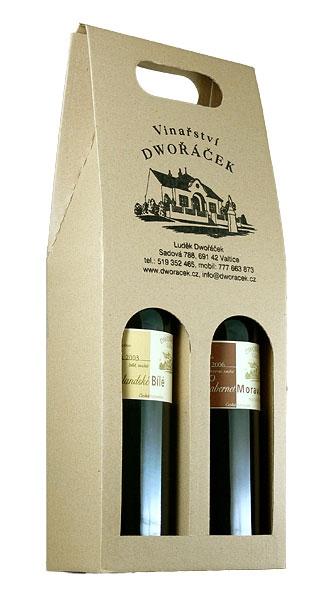 Vinařství Dwořáček - Papírový karton s logem - Dárkové balení