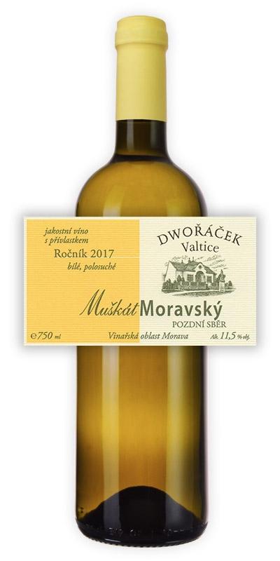 Vinařství Dwořáček - Muškát moravský - Bílá vína