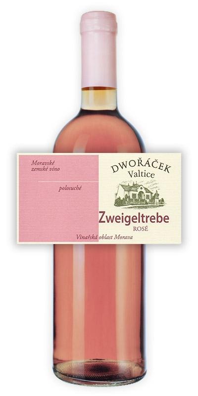 Vinařství Dwořáček - Zweigeltrebe - rosé - Růžová vína